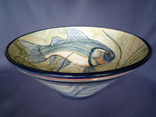 Adrian Brough large ceramic Fish Bowl